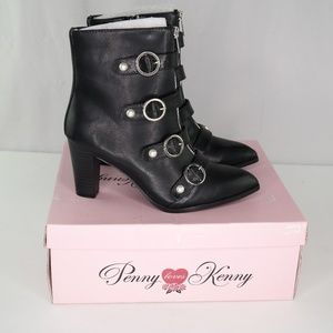 Penny Loves Kenny Asap Booties Sz 6 Black